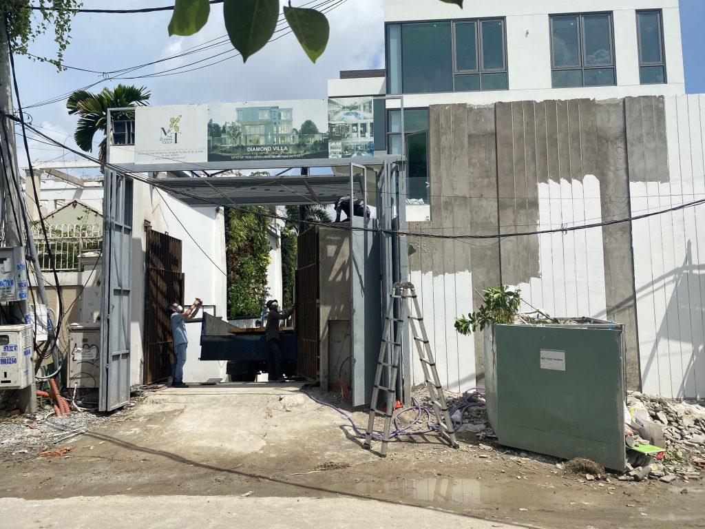 Dự Án Lắp Đặt Cổng Âm Sàn King gates – Diamond Villa Quận 2